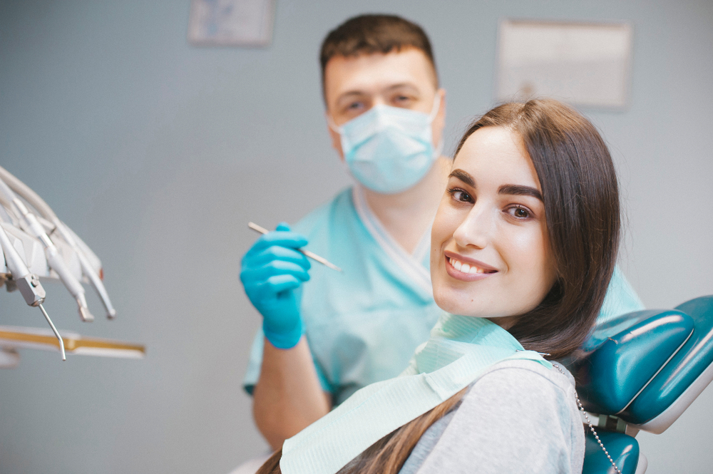lady patient at the dental office